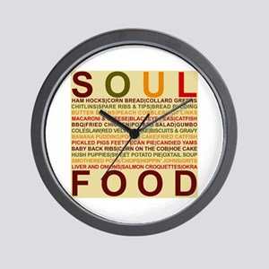 Soul_food_all Wall Clock