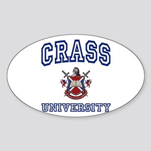 CRASS University Oval Sticker