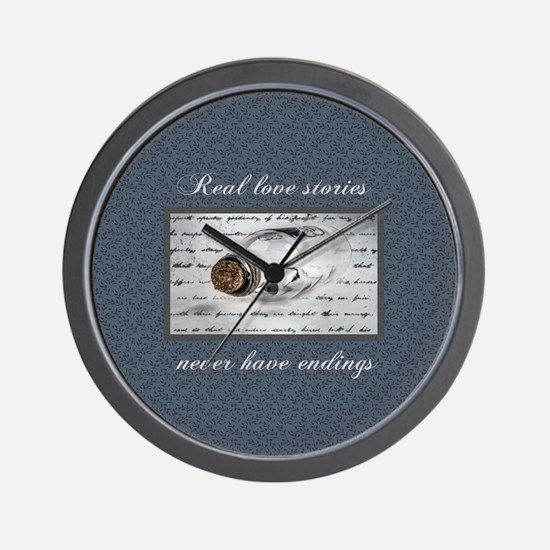 Real Love Stories Wall Clock