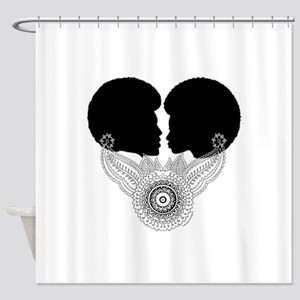 Black Love Couple Shower Curtain