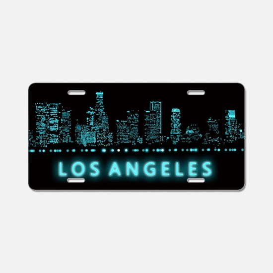 Digital Cityscape: Los Ange Aluminum License Plate