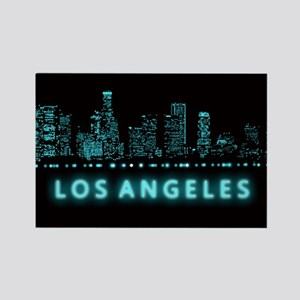 Digital Cityscape: Los Angeles, C Rectangle Magnet