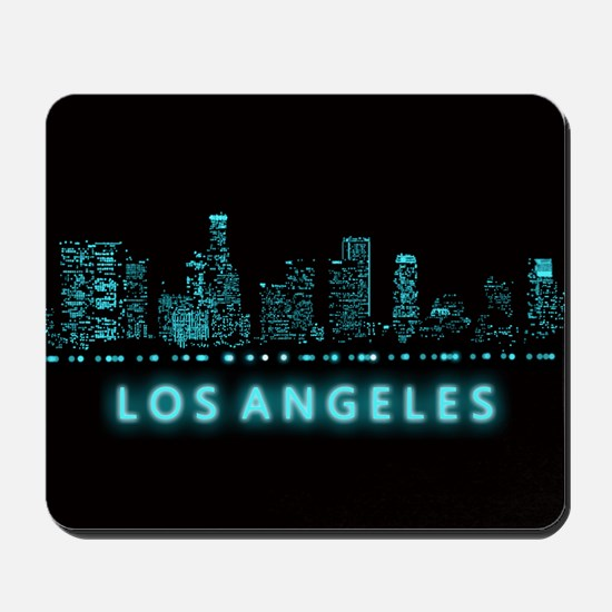 Digital Cityscape: Los Angeles, Californ Mousepad