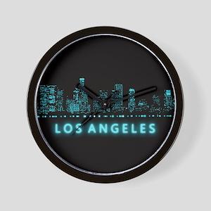 Digital Cityscape: Los Angeles, Califor Wall Clock