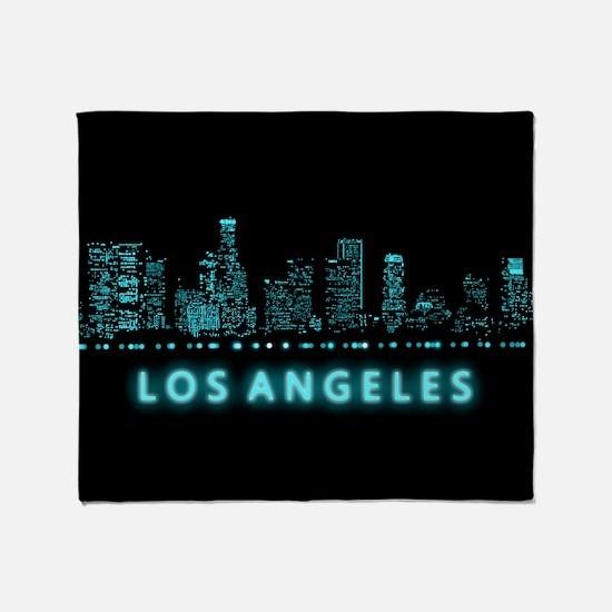 Digital Cityscape: Los Angeles, Cali Throw Blanket