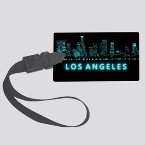 Digital Cityscape: Los Angeles, Large Luggage Tag