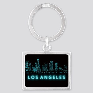 Digital Cityscape: Los Angeles, Landscape Keychain