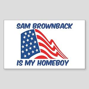 SAM BROWNBACK is my homeboy Rectangle Sticker