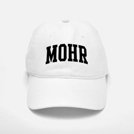 MOHR (curve-black) Baseball Baseball Cap
