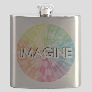 IMAGINE, RAINBOW,  Flask