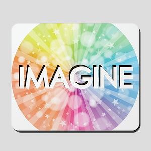 IMAGINE, RAINBOW,  Mousepad