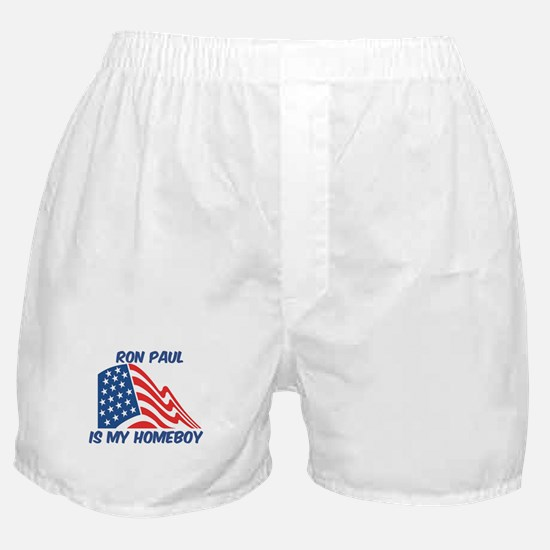 RON PAUL is my homeboy Boxer Shorts