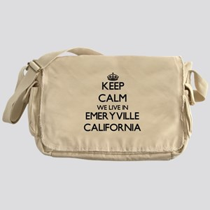 Keep calm we live in Emeryville Cali Messenger Bag