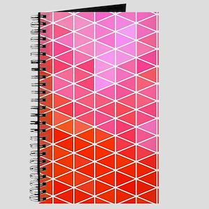 Pink & Red Geometric Triangle Pattern Journal