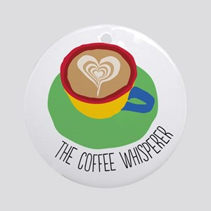The Coffee Whisperer Ornament (Round)