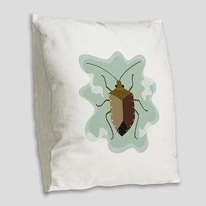 Stinkbug Burlap Throw Pillow