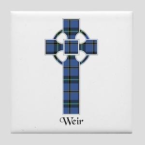 Cross-Weir Tile Coaster