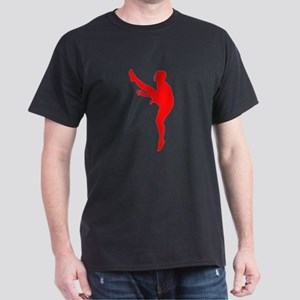 Red Football Punter Silhouette T-Shirt