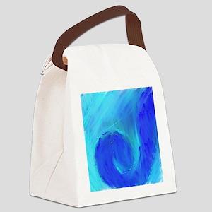 Blue Wave Canvas Lunch Bag