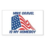 MIKE GRAVEL is my homeboy Rectangle Sticker