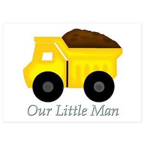 dump truck invitations and announcements cafepress