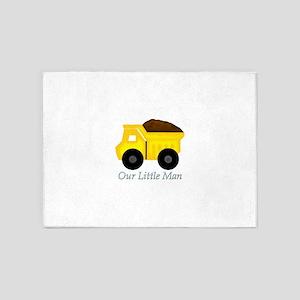 Our Little Man Dump Truck 5'x7'Area Rug
