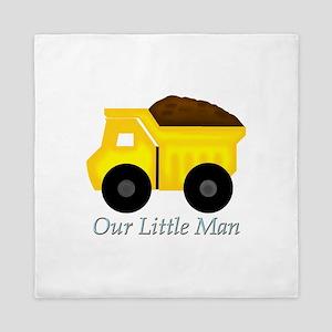Our Little Man Dump Truck Queen Duvet