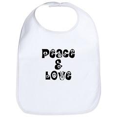 Peace & love Bib