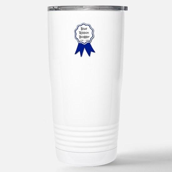 blue ribbon blogger.jpg Stainless Steel Travel Mug