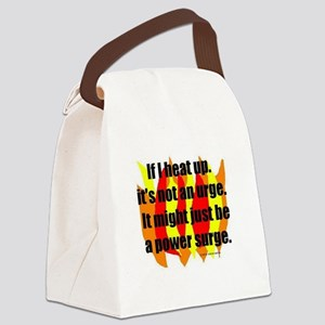 HOT FLASHES: If I heat up, it's n Canvas Lunch Bag