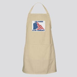 LOU DOBBS is my homeboy BBQ Apron