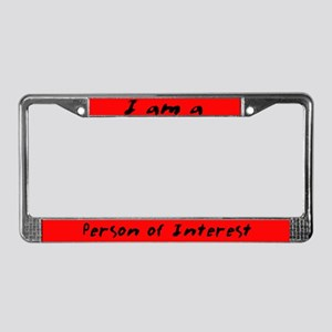 Person of Interest License Plate Frame