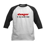Danger is my middle name Kids Baseball Jersey