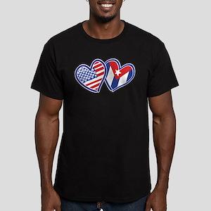 USA Cuba Patriotic Hearts T-Shirt