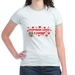 Everyone Loves a Cougar Jr. Ringer T-Shirt
