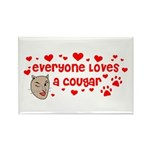 Everyone Loves a Cougar Rectangle Magnet (10 pack)