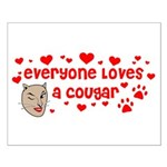 Everyone Loves a Cougar Small Poster