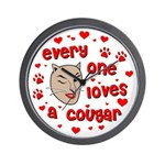 Everyone Loves a Cougar Wall Clock