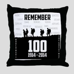 World War I Remembrance Throw Pillow