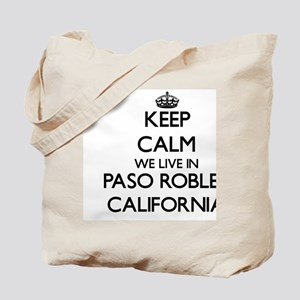 Keep calm we live in Paso Robles Californ Tote Bag