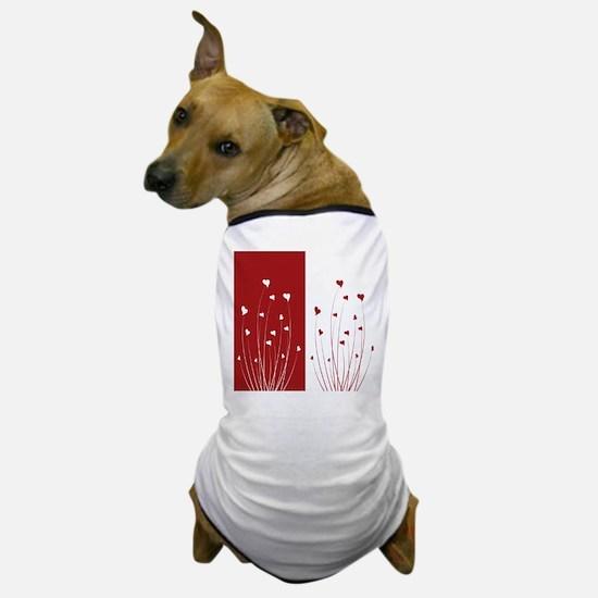 love flower dog t shirt