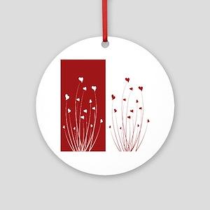 Love Flower Ornament (Round)