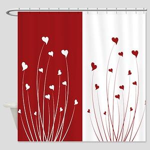Love Flower Shower Curtain