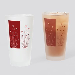 Love Flower Drinking Glass