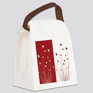 Love Flower Canvas Lunch Bag