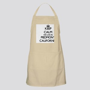 Keep calm we live in Piedmont California Apron
