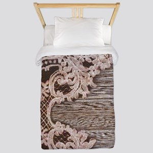 rustic wood lace Twin Duvet