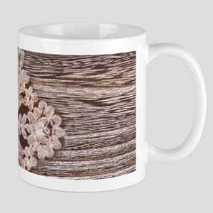 rustic wood lace Mugs