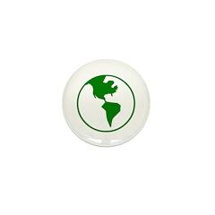 Green Earth Mini Button (10 pack)