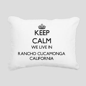 Keep calm we live in Ran Rectangular Canvas Pillow